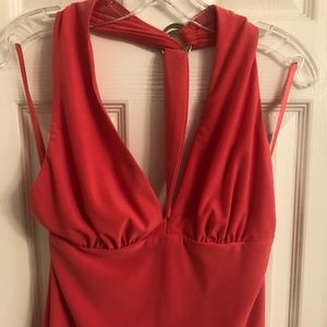 Cache Matching Coral Halter Top